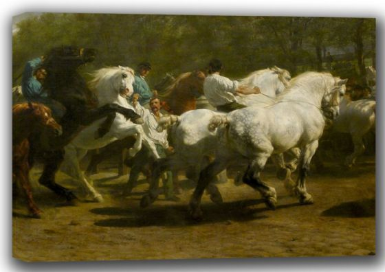 Bonheur, Rosa: The Horse Fair. Fine Art Canvas. Sizes: A4/A3/A2/A1 (001607)
